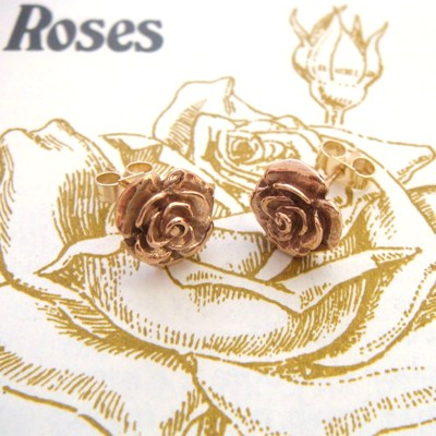 Gold Rose Studs