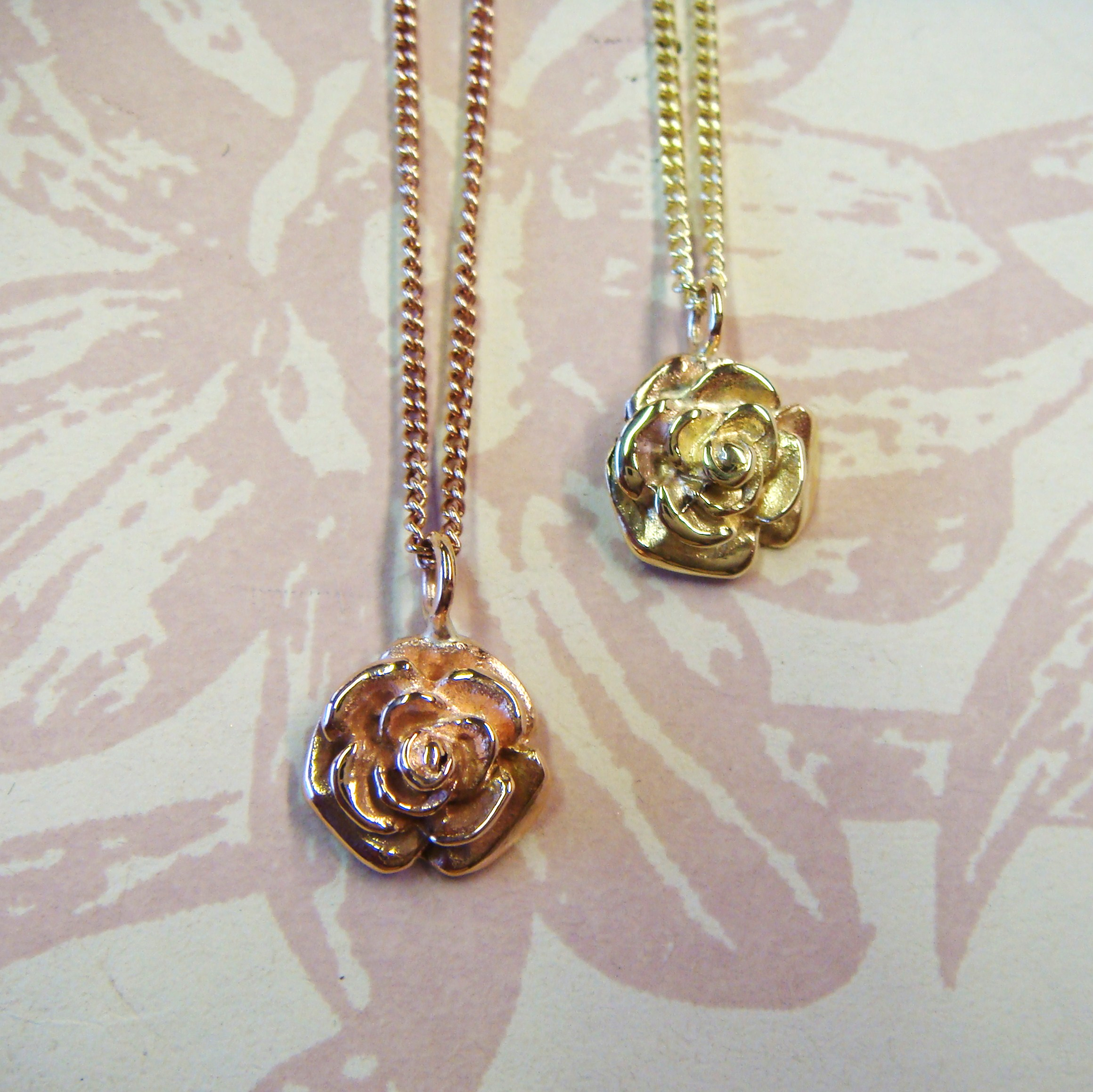 Gold Rose Necklace