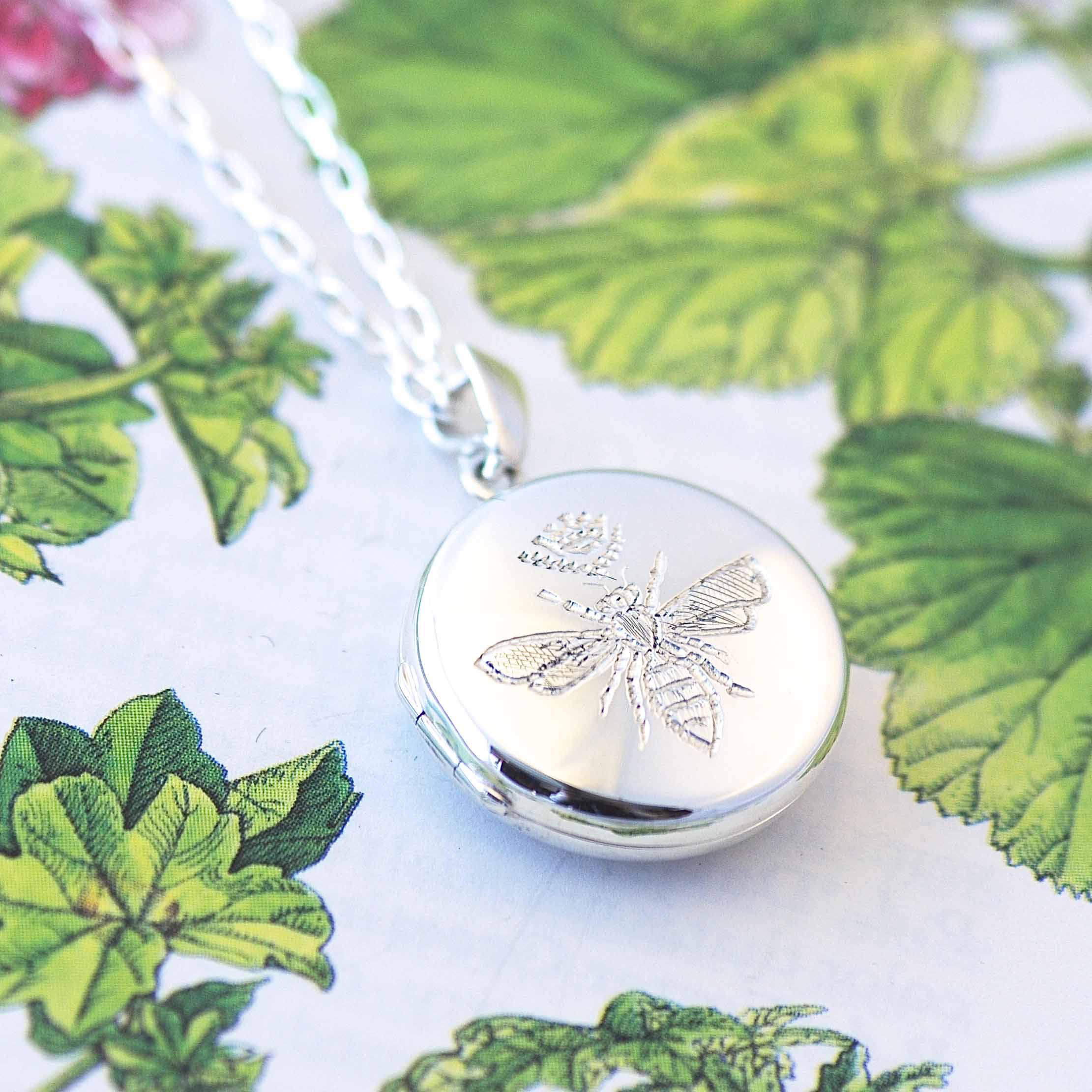 Silver Queen Bee Locket