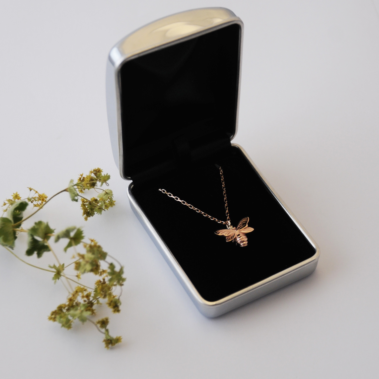 Bee Necklace, Rose Gold