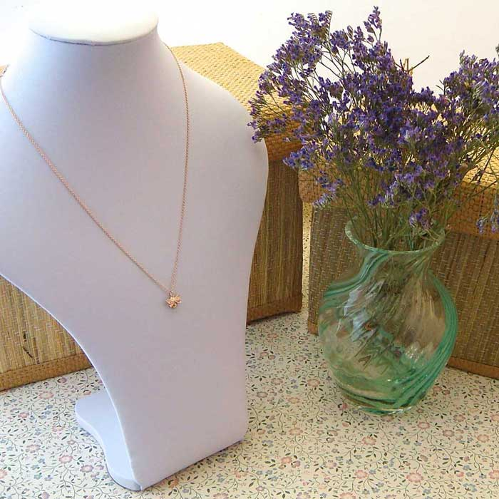 Dainty Gold Bee Necklace