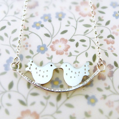 Fancy Lovebirds Necklace