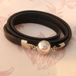 Leather Wrap-Around Bracelets