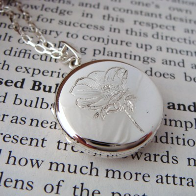 Silver Poppy Locket