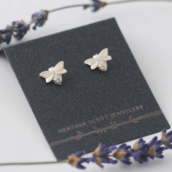 Dainty Bee Earrings