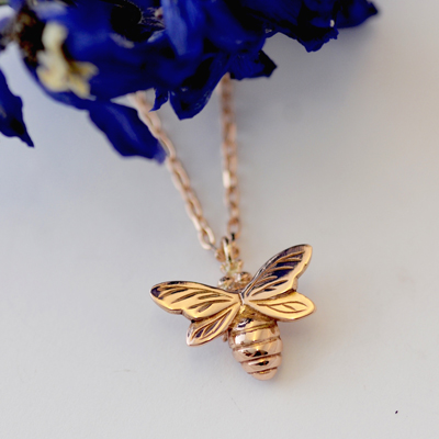 Rose Gold Bee Necklace
