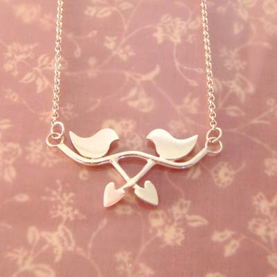 Lovebirds Crossover Necklace