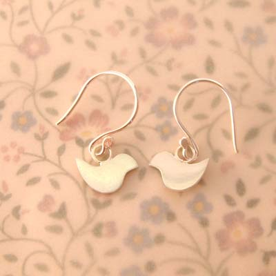 Small Lovebird Earrings