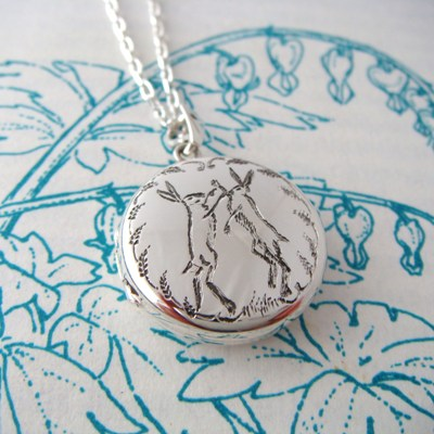 Boxing Hare Locket