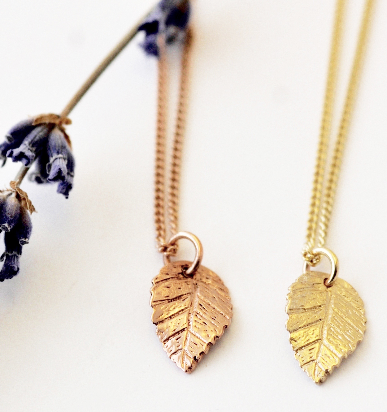 Leaf Necklace, Gold