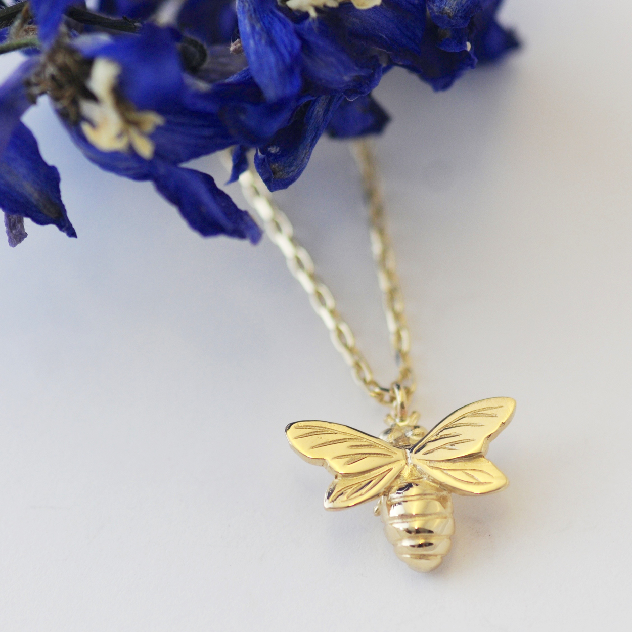 Bee Necklace, Gold