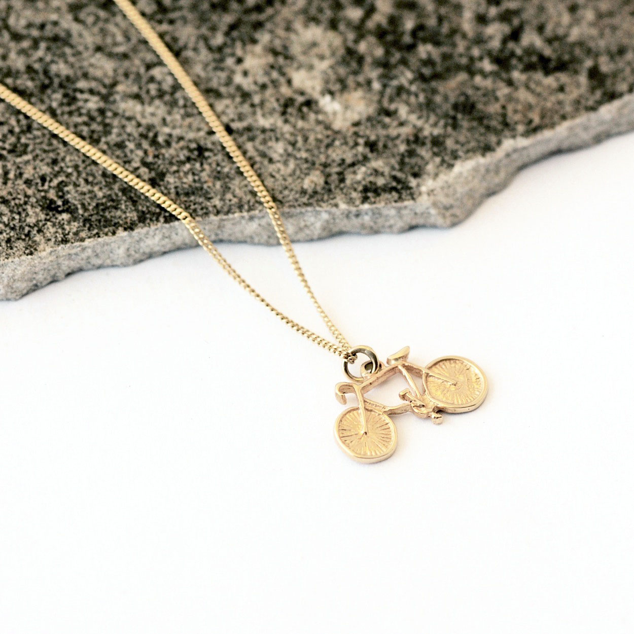 Bicycle Necklace, Gold