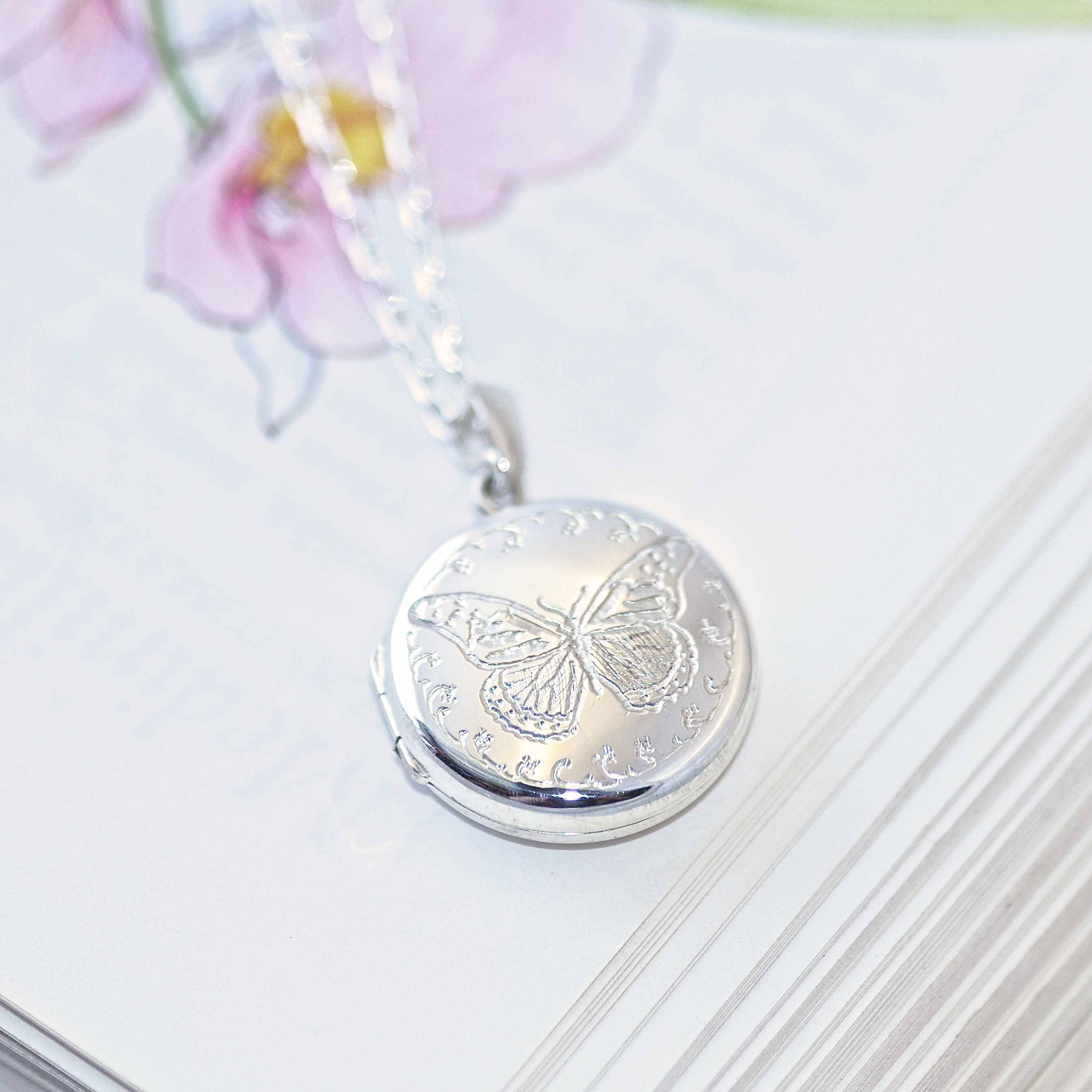 personalised gold engraved necklace charm swallow lockets locket goldswallowlocket jewellery with