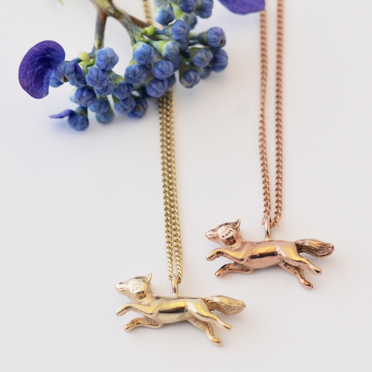 Fox Necklace, Gold