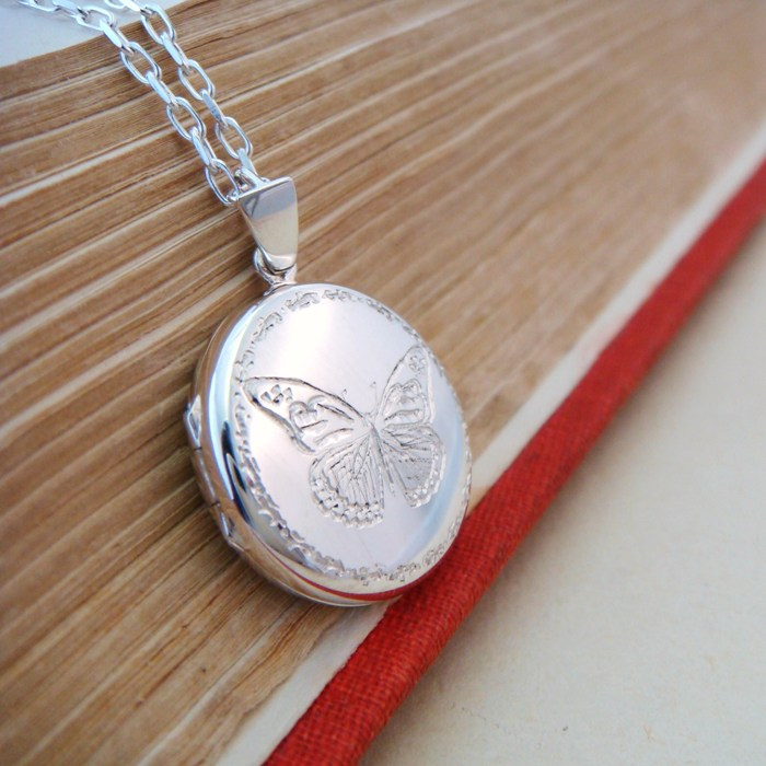 vintage market etsy locket necklace silver il butterfly jewelry lockets style gift
